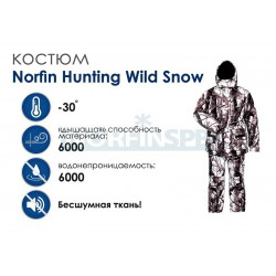 Зимний костюм Norfin Hunting Wild Snow