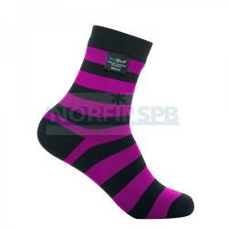 Носки водонепроницаемые Dexshell Ultralite Bamboo Black pink stripe