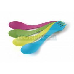 Ловилка Light My Fire Spork O упак 4шт. голубой/лайм/зелёный/фуксия