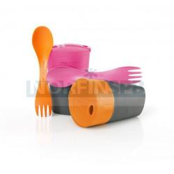 Набор подарочный Light My Fire Cup`n Spork, оранжевый/фуксия