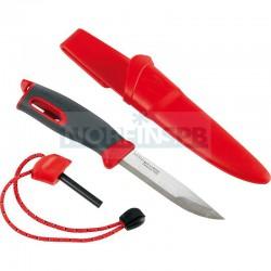 Нож для выживания c огнивом Light My Fire Swedish FireKnife (Mora), красный