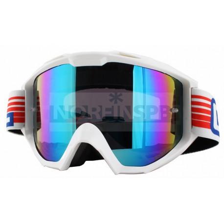 Кроссовая маска O`Neal B1 RL Goggle FLAT белая/радиум
