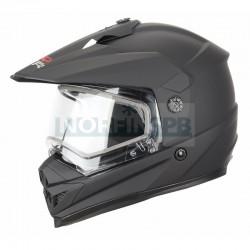 Снегоходный шлем XTR, с двойным стеклом DSE1 черный матовый