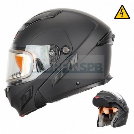 Снегоходный шлем XTR модуляр с электростеклом MODE2 черный матовый