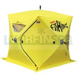 Зимняя рыболовная палатка Holiday Fishing HOT CUBE 3 175x175x195, желтый