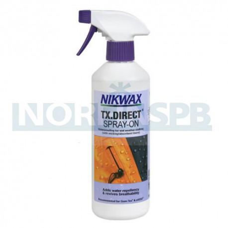 Водоотталкивающая пропитка для мембранных тканей Nikwax TX Direct Spray-On (300 мл)