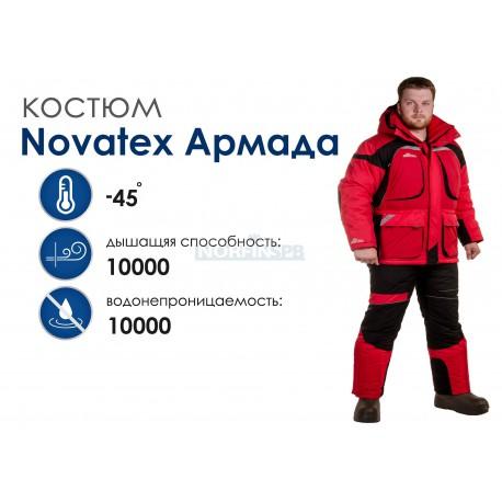 Зимний костюм Novatex Армада, красный