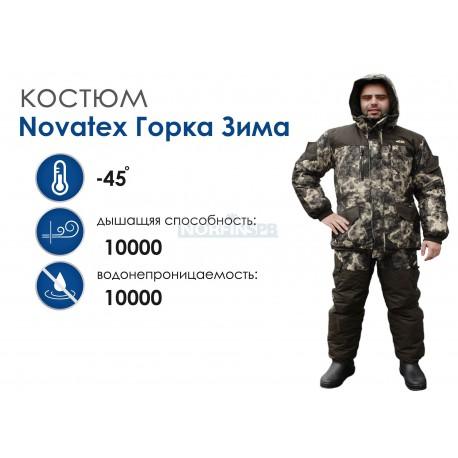 Зимний костюм Novatex Горка зима, зеленая цифра