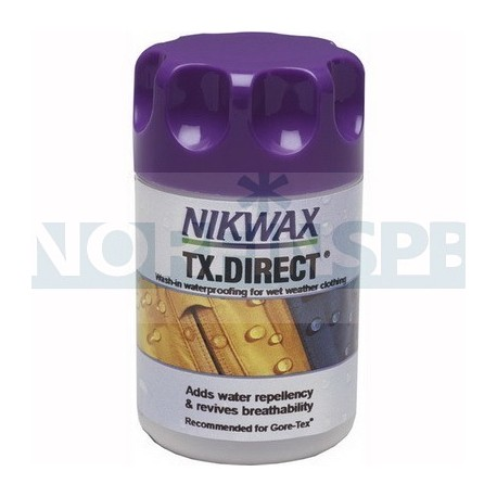 Водоотталкивающая пропитка для мембранных тканей Nikwax TX Direct Wash-in (150 мл)