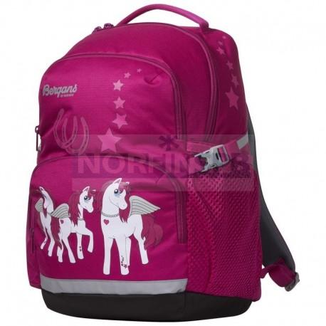 Детский школьный рюкзак Bergans 24 L, Cerise Pegasus