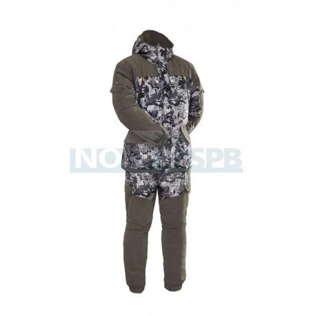 Зимний костюм Novatex Горка зима, коричневый тетрис