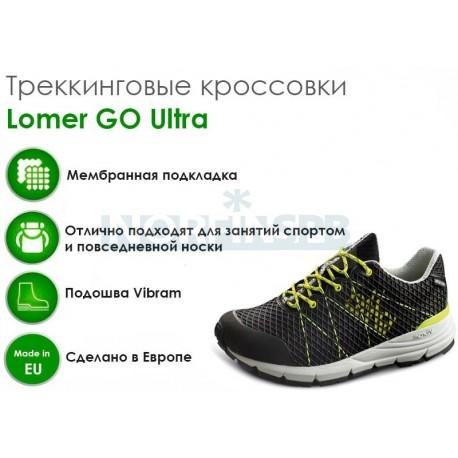 Треккинговые ботинки Lomer GO Ultra, black/lime