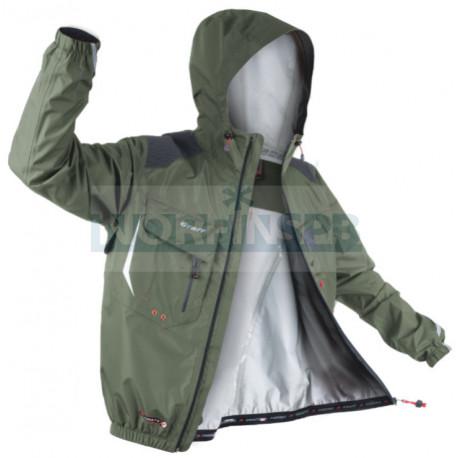 Куртка GRAFF CLIMATE рыболовная с капюшоном (братекс 10000, серый)