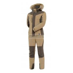 Женский зимний костюм Novatex PRIDE Вея (финляндия, хаки) с мехом