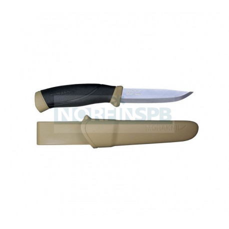 Нож Morakniv Companion Desert, нержавеющая сталь, прорезиненная рукоять