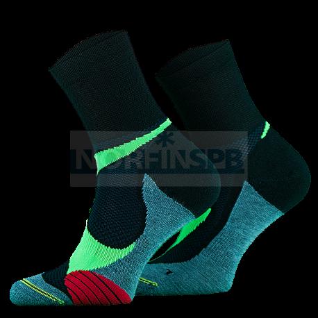 Носки Comodo RUN4, black-green