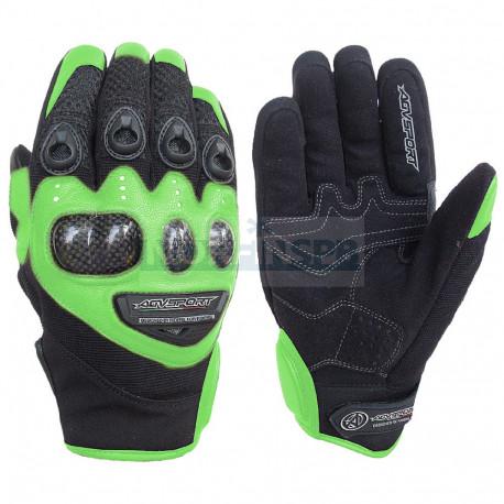 Кожаные перчатки Jet, зеленые