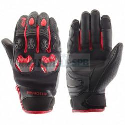 Перчатки кожаные Stinger MOTEQ, черно-красные
