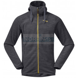 Куртка Bergans Hareid мужская флисовая, SolidCharcoal Mel/WaxedYellow