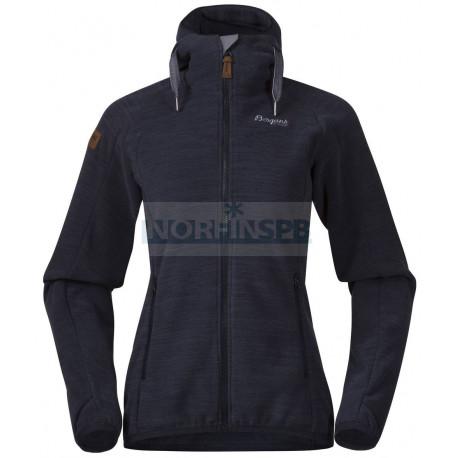 Куртка Bergans Hareid женская флисовая Dk Navy Mel