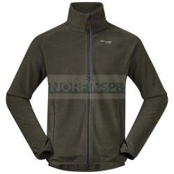 Куртка Bergans Hareid мужская флисовая NoHood (Seaweed Mel)