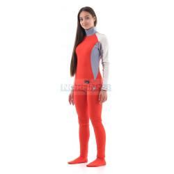 Термобелье Dragonfly зимнее с высоким воротом женское Orange-Grey