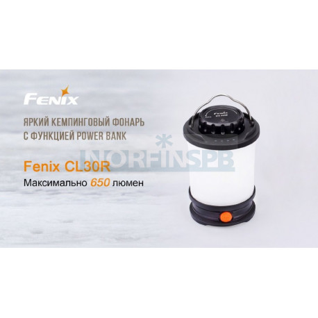 Фонарь Fenix CL30R серый