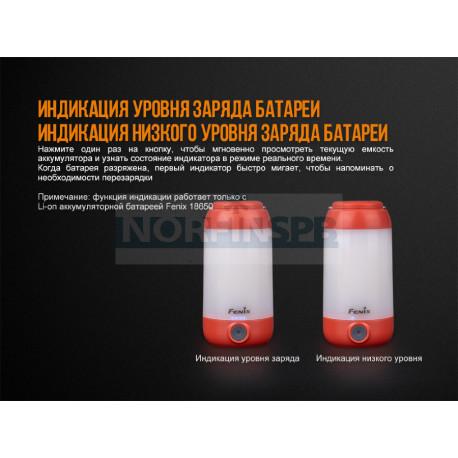 Фонарь Fenix CL26R красный