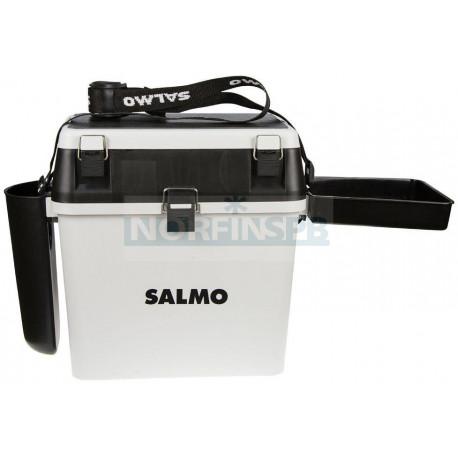 Ящик рыболов. зим. Salmo 2-х ярус. (из 5-ти частей) пласт. 39.5x24.5x38см сер.