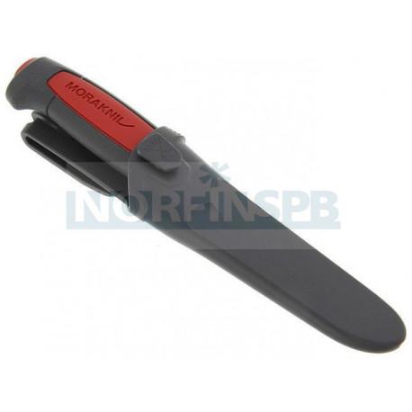 Нож Morakniv Pro C, углеродистая сталь, резиновая ручка с красной вставкой