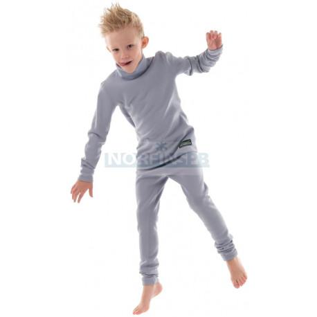 Детское термобелье Dragonfly Зима Polartec высокий ворот Grey