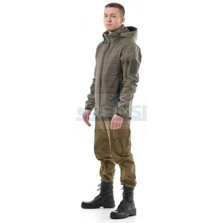Куртка Novatex Бастион (софт-шелл, олива) 7.62