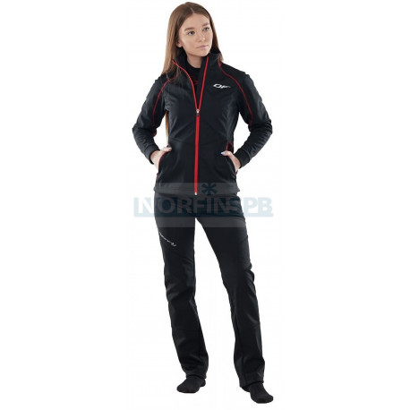 Куртка Dragonfly Explorer Black-Red женская, Softshell
