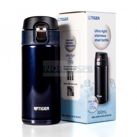 Термокружка Tiger MMJ-A036 Blue Black 0,36 л (цвет иссиня-черный)