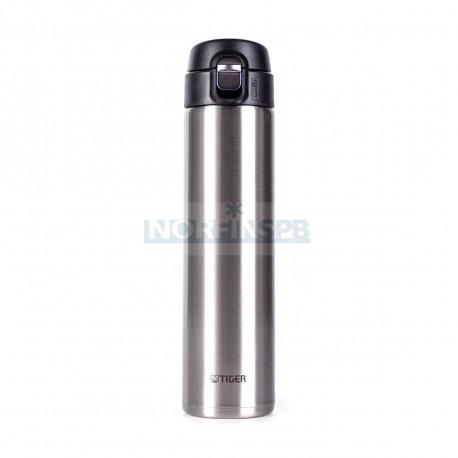 Термокружка Tiger MMJ-A060 Clear Stainless 0,60 л (цвет стальной, откидная крышка на кнопке, нержавеющая сталь)