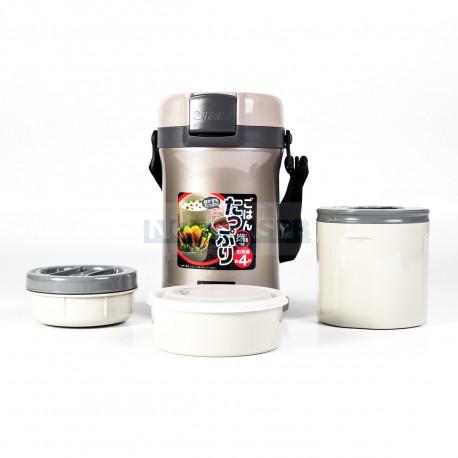 Термос для еды с контейнерами Tiger LWU-B200 Warm Silver