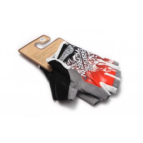 Велосипедные перчатки, красные