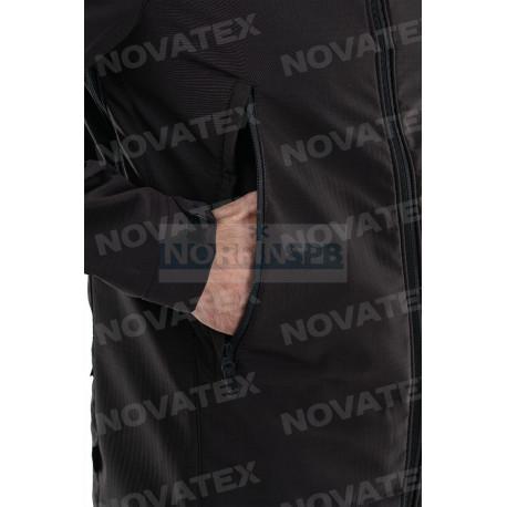 Куртка Novatex Джетта (софт-шелл, черный) 7.62