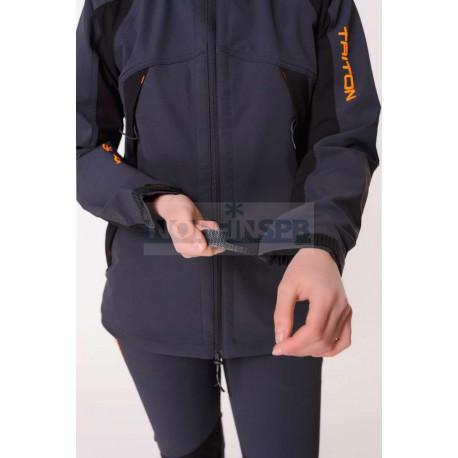 Костюм Triton REPTIL Женский (SoftShell APEX, Серо-чёрный)