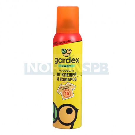 Gardex Baby Аэрозоль от клещей и  комаров на одежду Maxi 150 мл