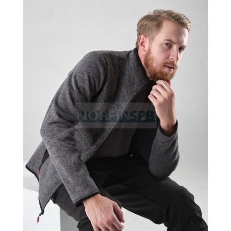 Толстовка Novatex Фьорд (вязанка, серый) GRAYLING