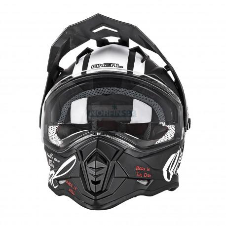 Шлем кроссовый Sierra TORMENT черный/белый