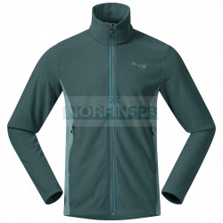 Флисовая куртка BERGANS Finnsnes Fleece Jacket, Forest Frost/ Light Forest Frost