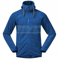 Флисовая куртка BERGANS Hareid Fleece Jacket, Dark Riviera Blue Melange