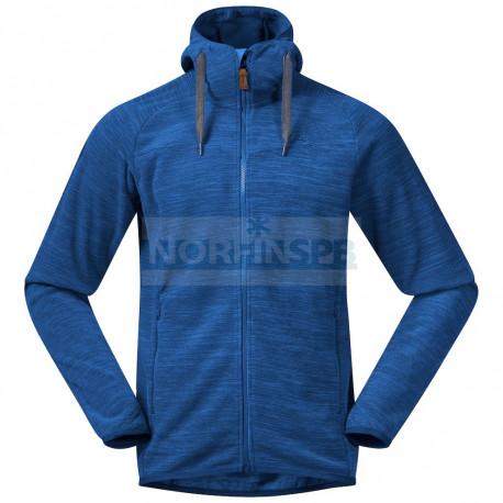 Флисовая куртка BERGANS Hareid Fleece Jacket, Dark Riviera Blue Melange
