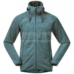 Флисовая куртка BERGANS Hareid Fleece Jacket, Forest Frost Melange