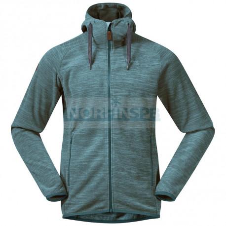 Флисовая куртка BERGANS Hareid Fleece Jacket, Forest Frost Melange