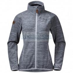 Флисовая куртка BERGANS Hareid Fleece W Jacket NoHood, Aluminium Melange