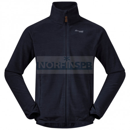 Флисовая куртка BERGANS Hareid Fleece Jacket Nohood, Dark Navy Melange