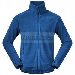 Флисовая куртка BERGANS Hareid Fleece Jacket Nohood, Dark Riviera Blue Melange